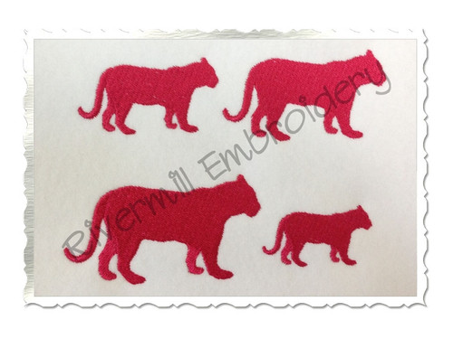 Mini Tiger Silhouette Machine Embroidery Design