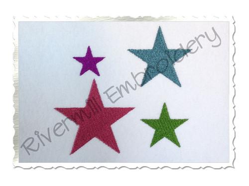 Small Star Machine Embroidery Design