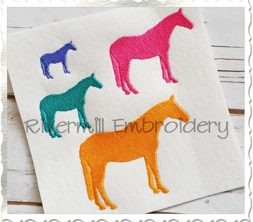 Small Horse Silhouette Machine Embroidery Design