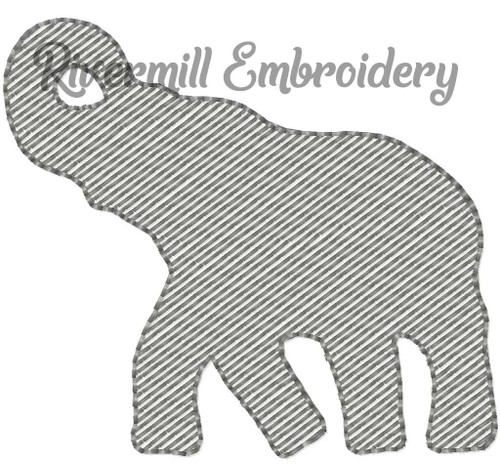 Mini Sketch Elephant Machine Embroidery Design