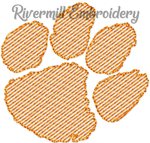 Mini Sketch Paw Print Machine Embroidery Design
