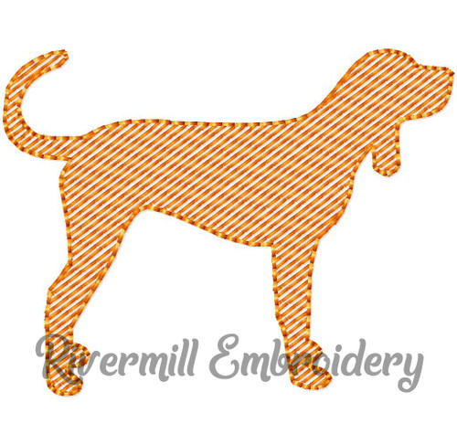 Mini Sketch Coonhound Hound Dog Machine Embroidery Design