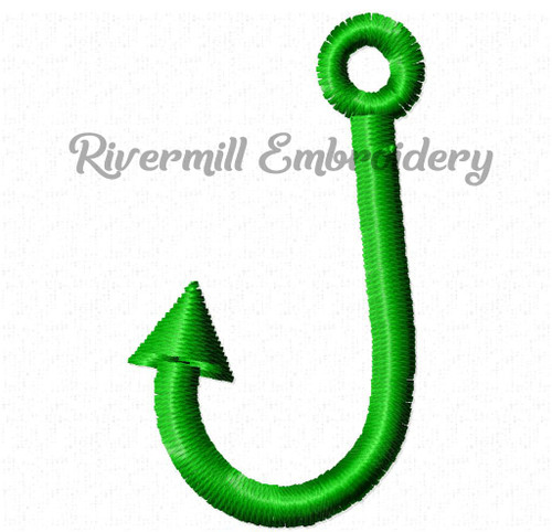 Tiny Fishing Hook Machine Embroidery Design