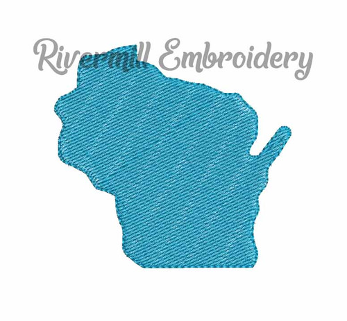 Small Mini Wisconsin Machine Embroidery Design