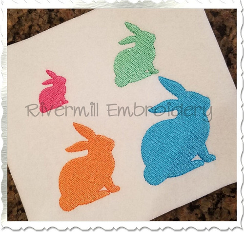 Small Mini Bunny Rabbit Machine Embroidery Design