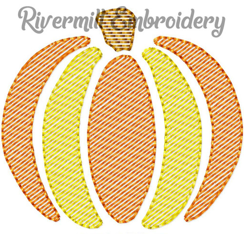 Mini Sketch Pumpkin Machine Embroidery Design