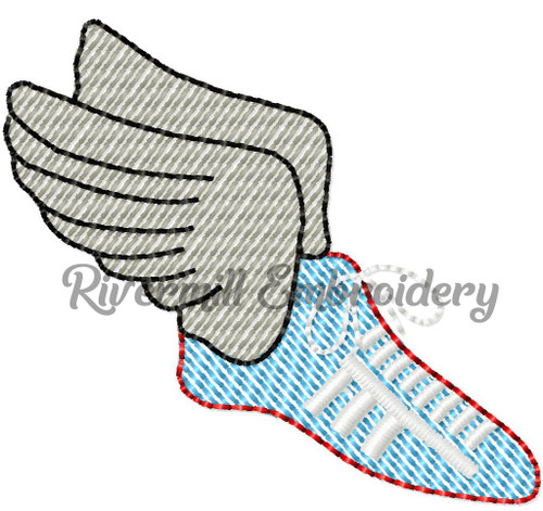Mini Sketch Track Shoe Machine Embroidery Design