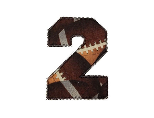 Zig Zag Applique Varsity Athletic Style Numbers Machine Embroidery Design