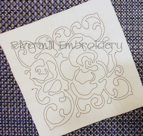 Floral Quilt Block 2 Machine Embroidery Design