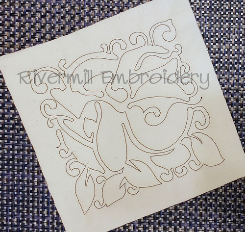 Floral Quilt Block 3 Machine Embroidery Design