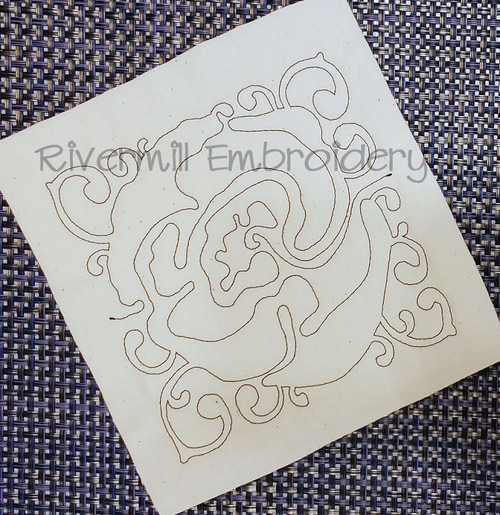 Floral Quilt Block 5 Machine Embroidery Design