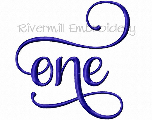 One Machine Embroidery Word Design