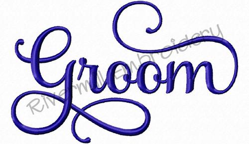 Groom Machine Embroidery Word Design
