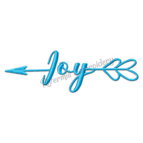 Joy With An Arrow Machine Embroidery Word Design