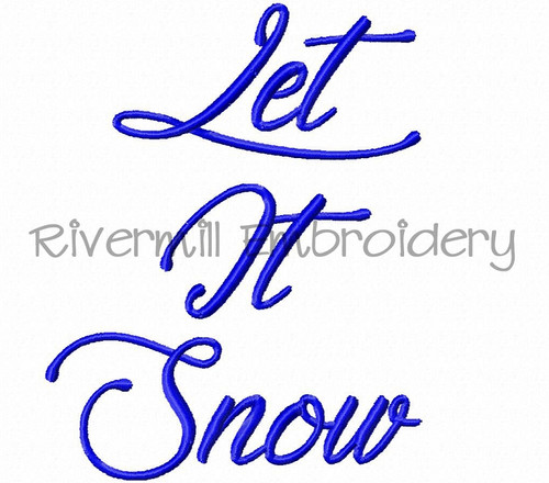 Let It Snow Machine Embroidery Word Design