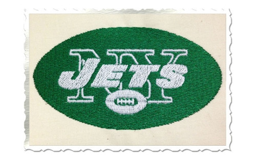 New York Jets Machine Embroidery Design