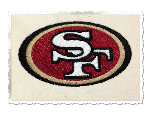 San Franciso 49ers Machine Embroidery Design