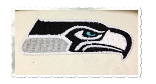 Seahawk Machine Embroidery Design
