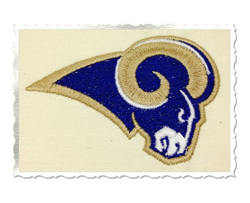 Rams Head Machine Embroidery Design