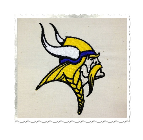Viking Face Machine Embroidery Design