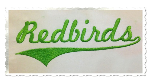 Redbirds With Swash Tail Machine Embroidery Design