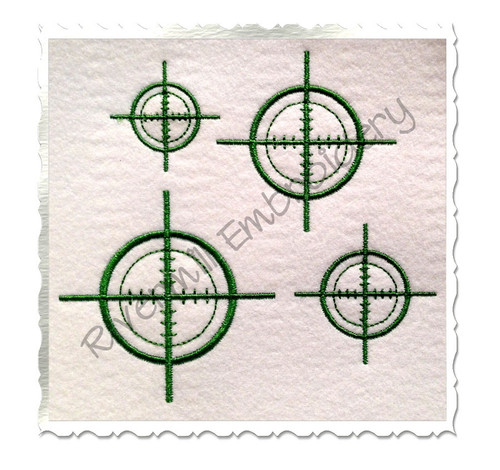 Hunting Target Machine Embroidery Design
