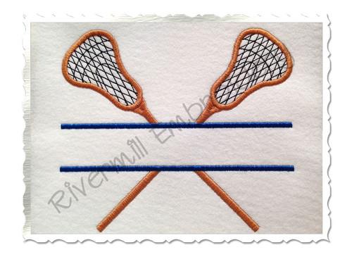 Split Lacrosse Machine Embroidery Design