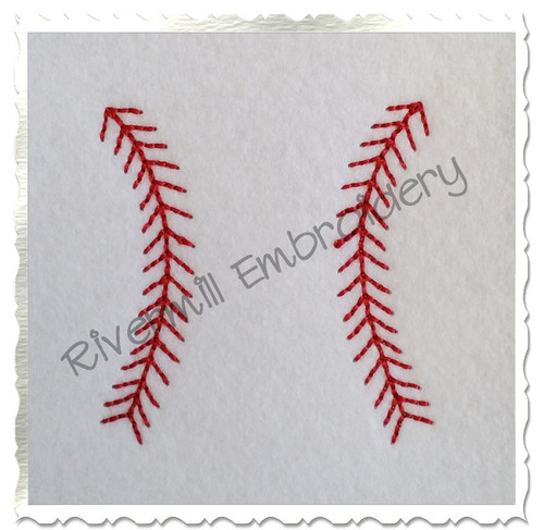 Small Baseball or Softball Stripes Machine Embroidery Design