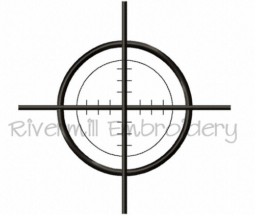 Large Hunting Target Machine Embroidery Design