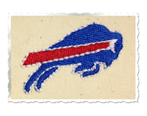 "Mini 1.5"" Buffalo Machine Embroidery Design"