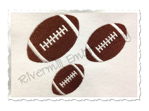 Small Football Machine Embroidery Design