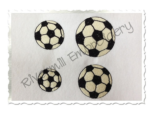 Small Mini Soccer Ball Machine Embroidery Design