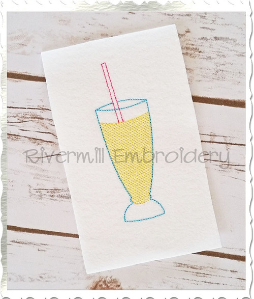 Vintage Style Summer Drink Machine Embroidery Design
