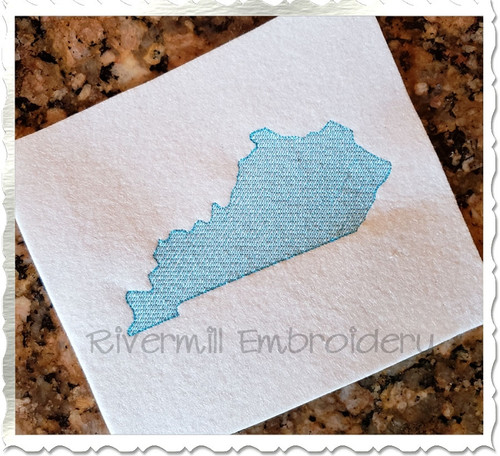 Vintage Sketch Style Kentucky Machine Embroidery Design
