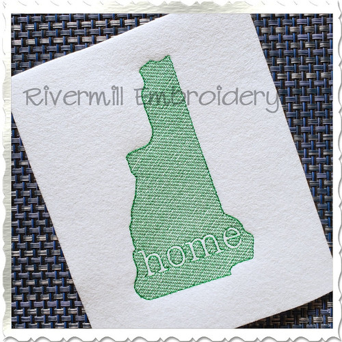 Sketch New Hampshire Home Machine Embroidery Design