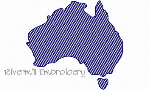 Small Sketch Style Australia Machine Embroidery Design