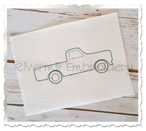 Vintage Style Truck Machine Embroidery Design