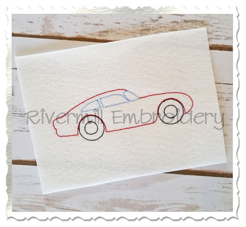 Vintage Style Muscle Car Machine Embroidery Design