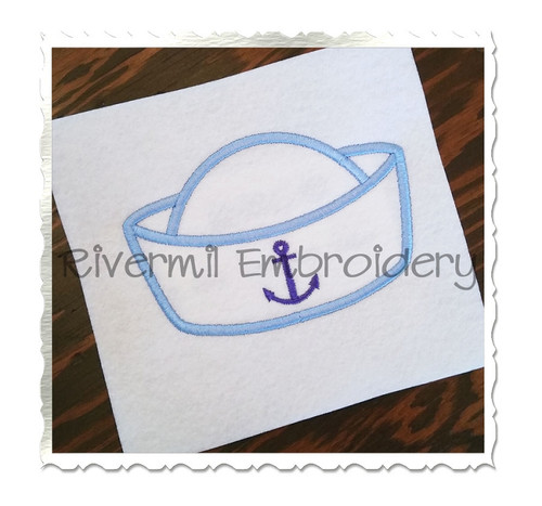 Sailor Hat Applique Machine Embroidery Design