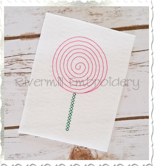 Vintage Style Lollipop Machine Embroidery Design