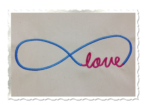 Love Infinity Machine Embroidery Design