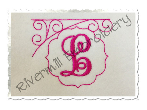 Bean Stitch Initial or Monogram Frame Machine Embroidery Design (#1)
