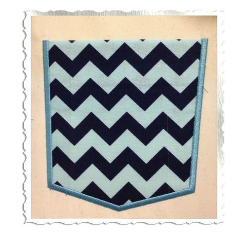 Applique Pocket Machine Embroidery Design