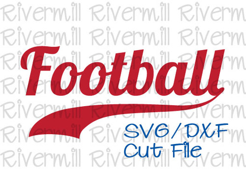 SVG DXF Football With Swash Cut File