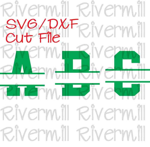 Split Varsity Alphabet Cut Files - 26 Letters