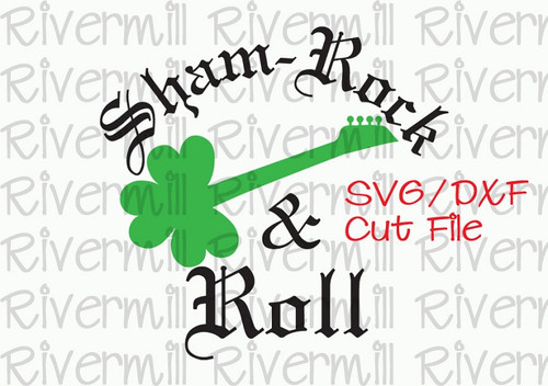 SVG DXF Shamrock & Roll Cut File