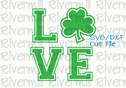 SVG DXF Shamrock Love Cut File