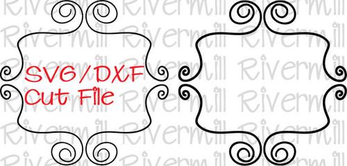 SVG DXF Doodle Frame Cut File