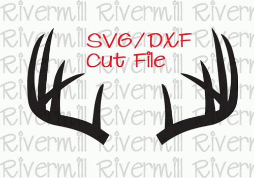 SVG DXF Deer Antlers Cut File