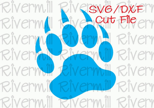 SVG DXF Bear Paw Cut File